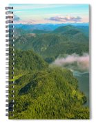 Over Alaska - June  Spiral Notebook