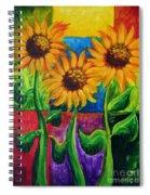 Sonflowers II Spiral Notebook