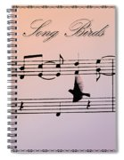 Songbirds With Border Spiral Notebook
