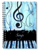 Songs - Blue Spiral Notebook