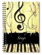 Songs - Yellow Spiral Notebook