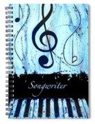 Songwriter - Blue Spiral Notebook