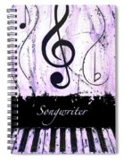 Songwriter - Purple Spiral Notebook