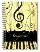 Songwriter - Yellow Spiral Notebook