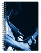 Sonic Blue Guitar Explosions Spiral Notebook