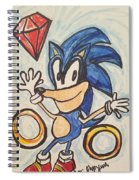 Sonic The Hedgehog Spiral Notebook
