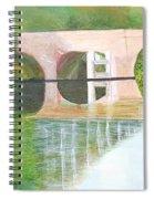 Sonning Bridge In Autumn Spiral Notebook
