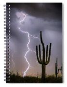 Sonoran Desert Monsoon Storming Spiral Notebook