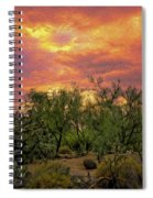 Sonoran Desert Sunset Op46 Spiral Notebook