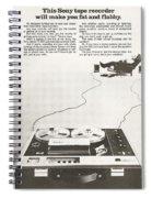 Sony Vintage Advert Spiral Notebook