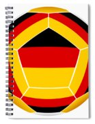 Soocer Ball With Germany Flag Spiral Notebook