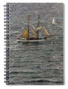 Soren Larsen Tall Ship Enters Sydney Harbour Spiral Notebook