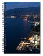 Sorrento Bay At Night Spiral Notebook