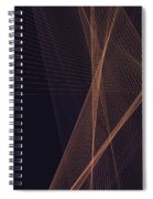Soul Computer Graphic Line Pattern Spiral Notebook