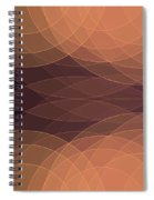 Soul Semi Circle Background Horizontal Spiral Notebook