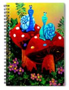 Soupy Snails Spiral Notebook