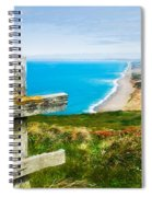 South Beach At Point Reyes Spiral Notebook