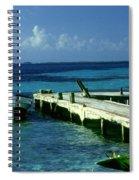 South Caye Belize Boat Dock Spiral Notebook