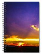 South Central Nebraska Sunset 008 Spiral Notebook