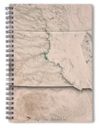 South Dakota State Usa 3d Render Topographic Map Neutral Border Spiral Notebook