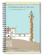 South Manitou Island Lighthouse Color Drawing Spiral Notebook