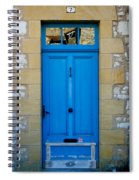South Of France Rustic Blue Door  Spiral Notebook