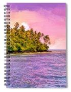 South Seas Sunset Spiral Notebook