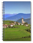 South Tyrolean Panorama Above Bolzano. Spiral Notebook