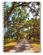 Southern Lane - Evergreen Plantation Spiral Notebook