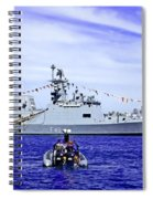 Southern Swan Cruising By Spiral Notebook
