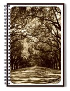 Southern Welcome In Sepia Spiral Notebook