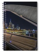 Southgate Bridge At Night Spiral Notebook