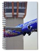 Southwest 737-7l9 N7816b Coco Phoenix Sky Harbor November 30 2017 Spiral Notebook