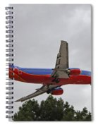 Southwest Airlines 737 On Approach Into Las Vegas Nv Spiral Notebook