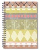 Southwest Cactus Decorative- Art By Linda Woods Spiral Notebook