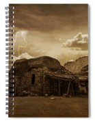 Southwest Navajo Rock House And Lightning  Spiral Notebook