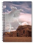 Southwest Navajo Rock House And Lightning Strikes Spiral Notebook