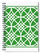 Southwestern Inspired With Border In Dublin Green Spiral Notebook