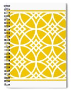 Southwestern Inspired With Border In Mustard Spiral Notebook