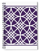 Southwestern Inspired With Border In Purple Spiral Notebook
