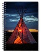 Southwestern Teepee Sunset Spiral Notebook