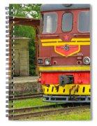 Soviet Era Train In Haapsalu Estonia Spiral Notebook