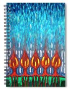 Space Rain Spiral Notebook