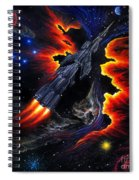 Space Shuttle. Flight Through The Never Spiral Notebook