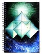 Space Shuttle Of Alien Civilization. High-speed Spiral Notebook