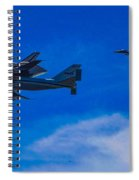 Space Shuttle Over Griffith Park Spiral Notebook