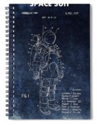 Space Suit Patent Illustration Spiral Notebook