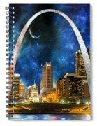 Spacey St. Louis Skyline Spiral Notebook