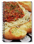 Spaghetti And Meat Sauce With Garlic Toast  Spiral Notebook