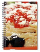 Spaghetti With Tomatoes And Olives Food Background Spiral Notebook
